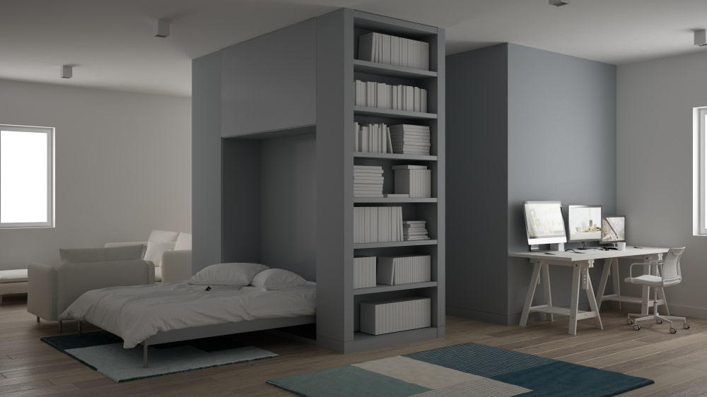 murphy bed home office